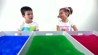 Дети САМИ сняли НОВЫЙ ЧЕЛЛЕНДЖ Джелли баф Ищем личные вещи / Сюрпризы игрушки в Jelly Baff