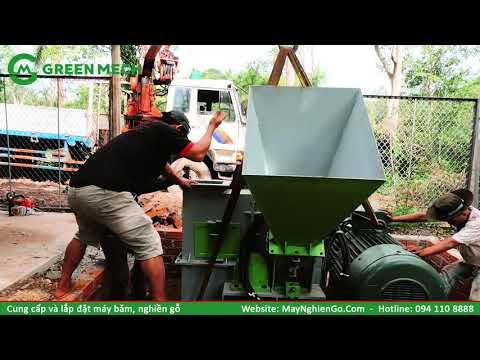 Lắp đặt bàn giao máy băm dăm gỗ 10 tấn/1 giờ tại Phù Mỹ - Bình Định