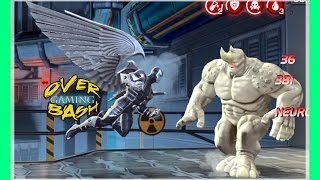 Marvel-Gameplay, New / Archangel Vs Rhino Realm of Legends / All attacks, Android / iPhone iOS- HD