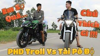 Vlog31 | PHD Troll Vs Tài Pô Độ So Kè Nhau CB1000r Vs Z1000 | Test Pô Xem Pô Ai Hay Hơn