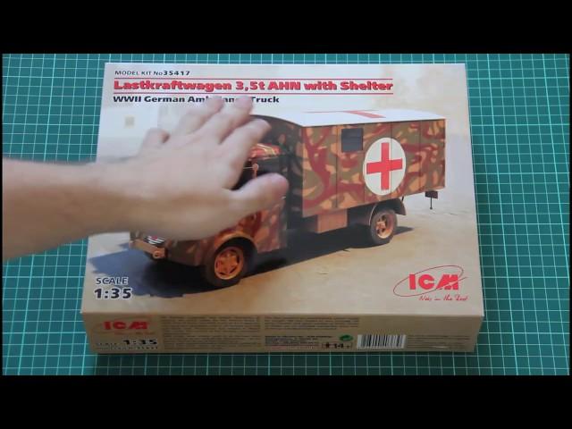 Neu ICM 35417-1:35 Lastkraftwagen 3,5t AHN with Shelter