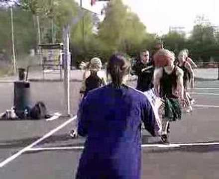Outdoor basketball at Kuba Oslo, Norway