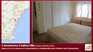 preview picture of video '4 dormitorios 3 baños Villa se Vende en Rojales, Alicante, Spain'