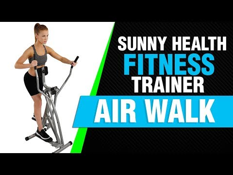 Sunny Health & Fitness SF-E902 Air Walk Trainer Elliptical Machine Glider Video Review 2018