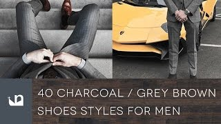 40 Charcoal Grey Suit Brown Shoes Styles For Men