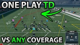 EASY ONE PLAY TD VS ANY COVERAGE | Beat Cover 0 1 2 3 4 | Madden 18 One Play Touchdown Money Play