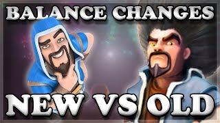 Balance Changes Old & New Comparison   Clash Royale 🍊