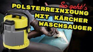 So geht's: Polsterreinigung mit Waschsauger, Kärcher SE4002