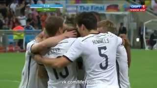 Смотреть онлайн Главный гол Чемпионата Мира 2014 года. Германия - Аргентина
