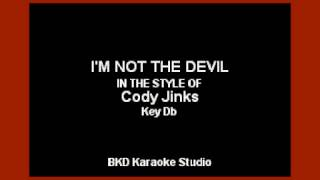 Cody Jinks - I'm Not The Devil (Karaoke With Lyrics)