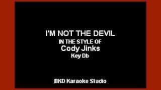 Cody Jinks - I'm Not The Devil (Karaoke With Lyrics)