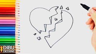 Comment dessiner coeur bris 123vid - Dessin de coeur brise ...
