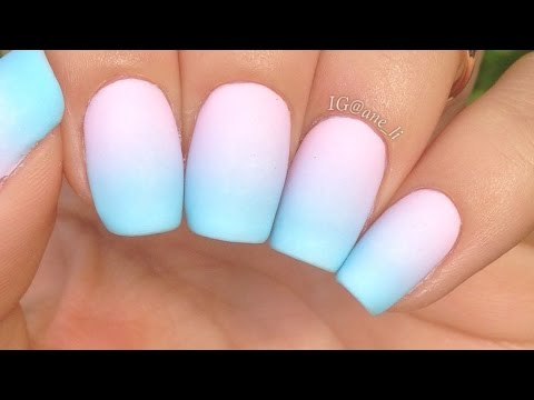 Simple Pastel Gradient Nails
