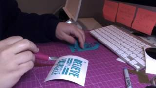 beginner tutorial - silhouette cameo - cut and apply vinyl decal