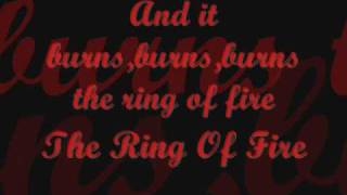 Ring of fire-Adam Lambert with lyrics