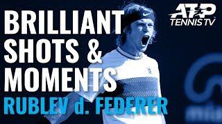 Andrey Rublev Stuns Roger Federer With Brilliant Win!   Cincinnati 2019