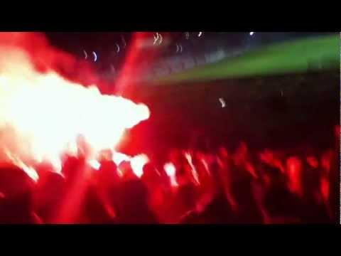 """""""Ohiggins vs Cerro porteño - Recibimiento Trinchera Celeste"""" Barra: Trinchera Celeste • Club: O'Higgins"""
