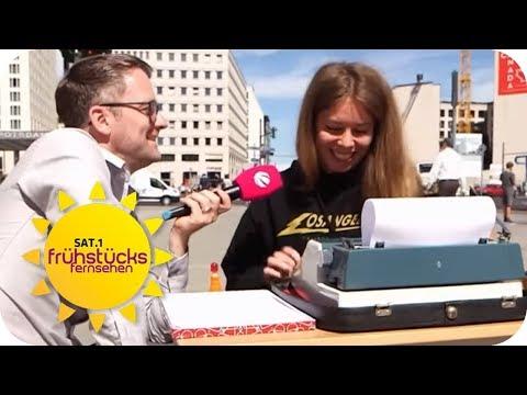 Generation Y im Test: Kann sie mit der Schreibmaschine schreiben? | SAT.1 Frühstücksfernsehen