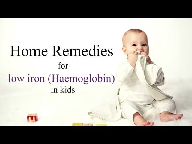 Home remedies for low iron in kids