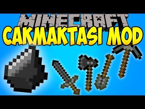ÇAKMAKTAŞINDAN EŞYALAR YAPIYORUZ! (Kılıç,Kazma,Kürek..) - Minecraft Flint Tools Mod TÜRKÇE