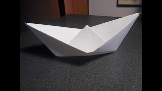 КАК СДЕЛАТЬ КОРАБЛИК ИЗ БУМАГИ . ПОДЕЛКИ ИЗ БУМАГИ. How to make a paper ship.ORIGAMI