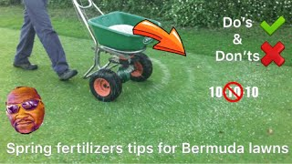 Spring Fertilizers tips for Bermuda Lawns