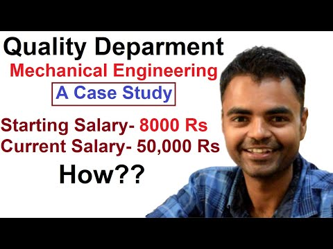 How is Quality Department in Mechanical Engineering, Growth, Salary, Scope in Private Company India