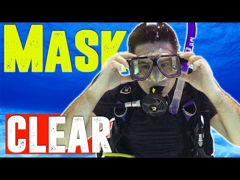 How to Clear a Dive Mask Under Water