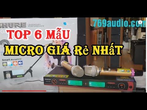 Top 6 mẫu Micro karaoke, mic không dây hay nhất