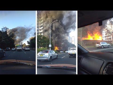 Жуткое зрелище: Пожар в Сиднее