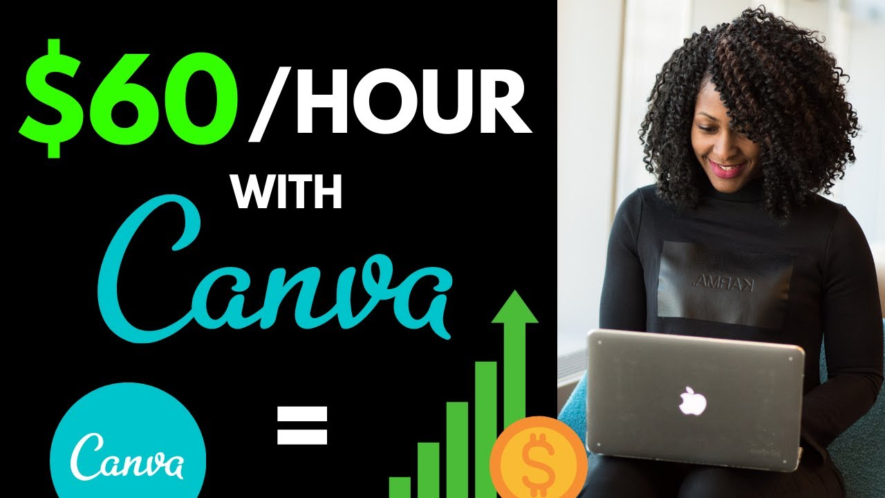 HOW TO GENERATE INCOME WITH CANVA (MAKE $60 Per Hour With SIMPLY CANVA) thumbnail