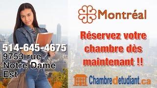 preview picture of video 'Chambres à louer à Montréal pour étudiants 514-645-4675'