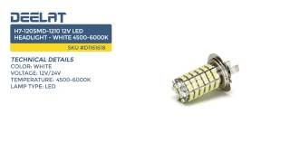 H7-120SMD-1210 12V LED Headlight - White 4500-6000K
