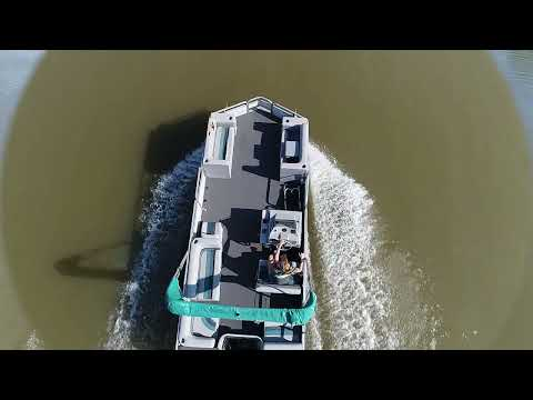1993 Tracker Party Barge 21 in Memphis, Tennessee - Video 1