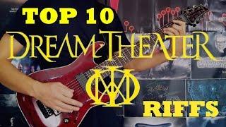 My Top 10 Dream Theater Riffs - Guitar Medley
