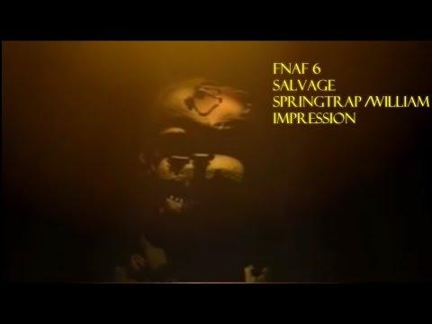 FNAF 6 SALVAGE SPRINGTRAP /william afton impression - Dark Box