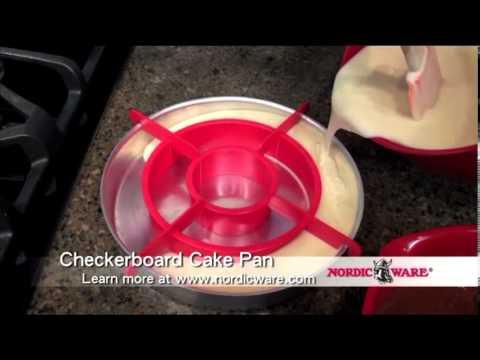NordicWare Checkerboard Cake Pan Set