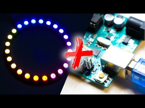 How to light up WS2812 LED Ring with Arduino in 2 mins