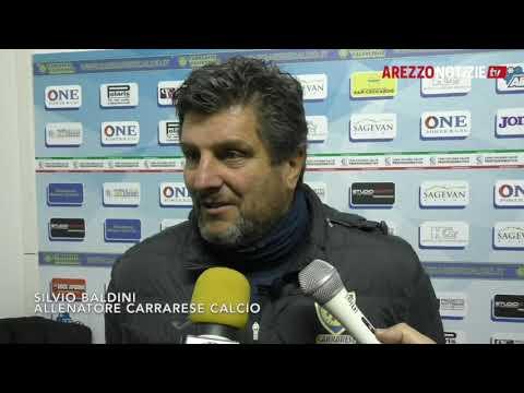 Carrarese-Arezzo 2-2, intervista a Baldini