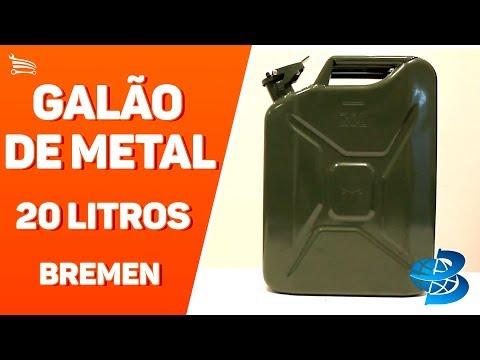 Galão de Metal para Gasolina 20L  - Video