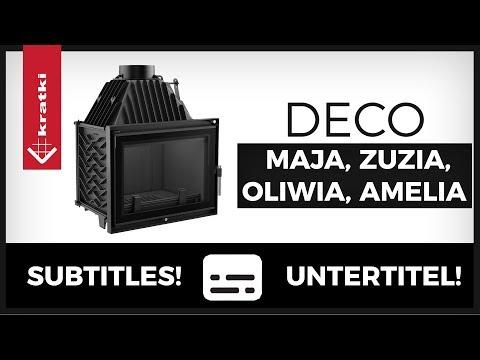 Каминная топка Kratki Amelia/DECO (видео)