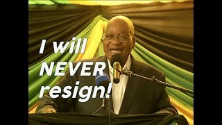 """""""I will never resign!"""" - Zuma on ANC recall *with subtitles*"""