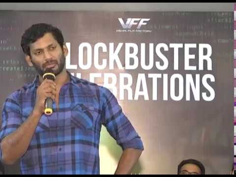 Abhimanyudu Success Meet By Vishal