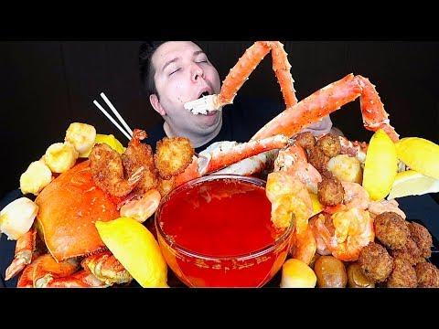 King Crab Legs With Blove's Sauce • MUKBANG