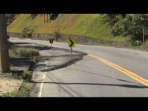 Motoristas que passam pela estrada Serramar enfrentam perigos como crateras e obras inacabadas