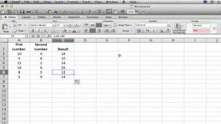 Adding & Subtracting Vertical Columns in Excel : MS Excel Tips