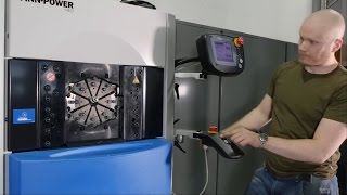 Real work with Crimping machine (360° Hydraulic press)