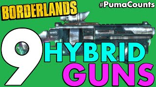 Top 9 Best Hybrid Guns and Weapons in Borderlands 1 #PumaCounts