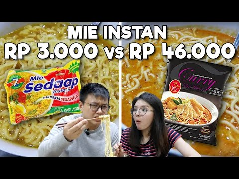 Download MIE INSTAN RP 3.000 Vs RP 46.000 !! WORTH IT ?? HD Mp4 3GP Video and MP3