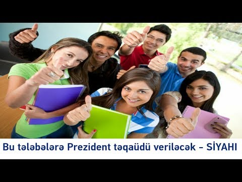 Bu tələbələrə Prezident təqaüdü veriləcək - Этим студентам будет выдаваться президентская стипендия